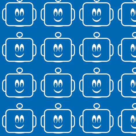 Large Mr Mikeys Smile Dk Blue fabric by shelleymade on Spoonflower - custom fabric