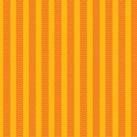 Robot Leg Stripe Yellow fabric by shelleymade on Spoonflower - custom fabric