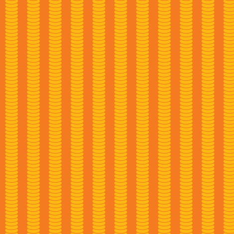 Robot Leg Stripe - Orange fabric by shelleymade on Spoonflower - custom fabric