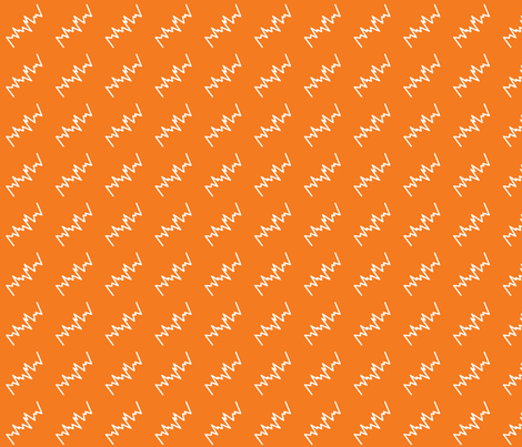 Robot Wave Orange fabric by shelleymade on Spoonflower - custom fabric