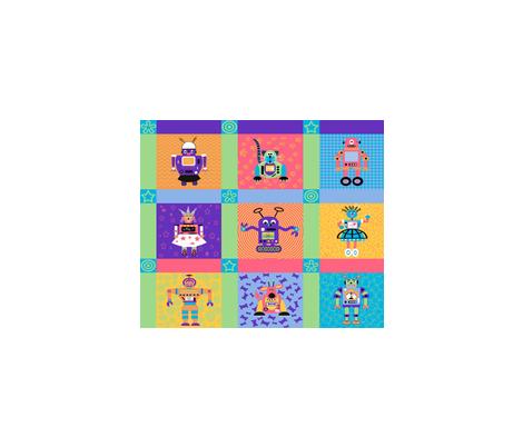 Robot_Ramble fabric by kriskross on Spoonflower - custom fabric