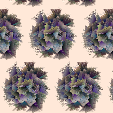 From_Triangle_to_Flower-Grey fabric by patsijean on Spoonflower - custom fabric