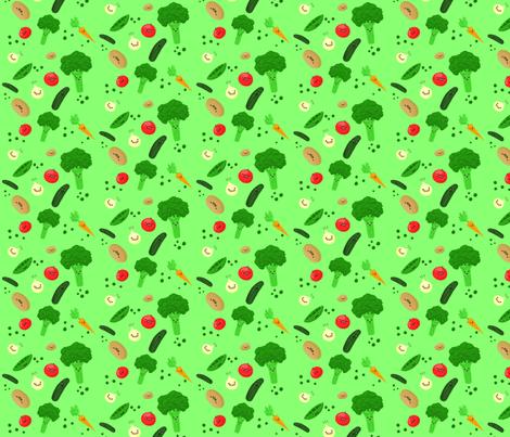 veggie_print_copy fabric by oceanic on Spoonflower - custom fabric