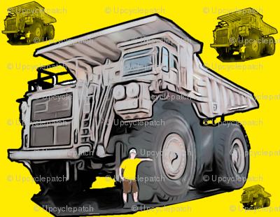 Yellow Monster Truck