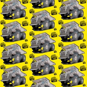 Yellow Monster Truck