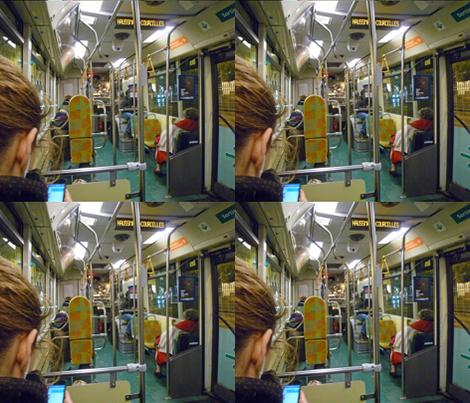 On the 63 Bus, Paris fabric by susaninparis on Spoonflower - custom fabric