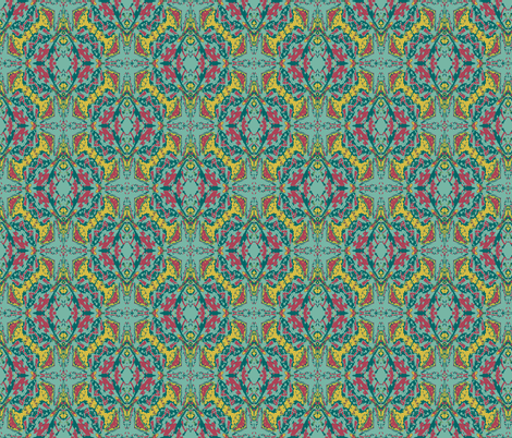 A Long Stretch for a Caladium Leaf fabric by susaninparis on Spoonflower - custom fabric