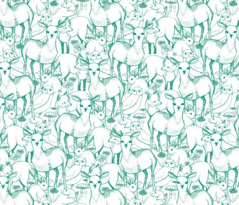 Woodland (Green) fabric by lydia_meiying on Spoonflower - custom fabric