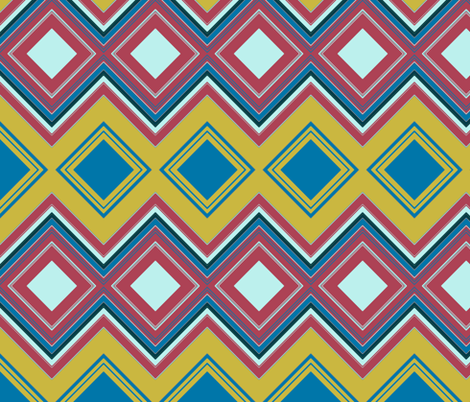 Diamond match to Caladium - Follow the North Star fabric by susaninparis on Spoonflower - custom fabric