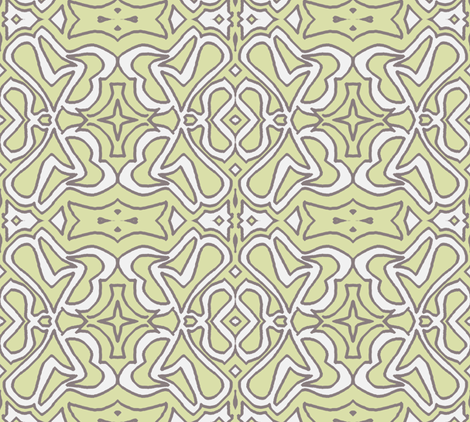 Abracadabra - in the Shade of the Garden of my MInd fabric by susaninparis on Spoonflower - custom fabric