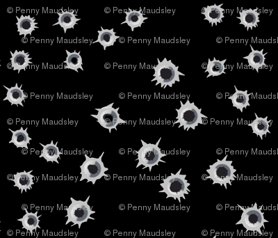 BULLET HOLES ON BLACK