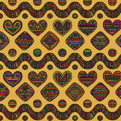hearted in color fabric by simut on Spoonflower - custom fabric