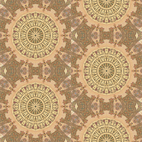 Book of Kells 3 fabric by dovetail_designs on Spoonflower - custom fabric