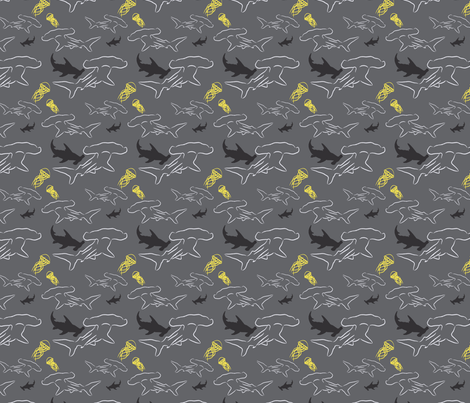 Hammerhead-ch fabric by craftinomicon on Spoonflower - custom fabric