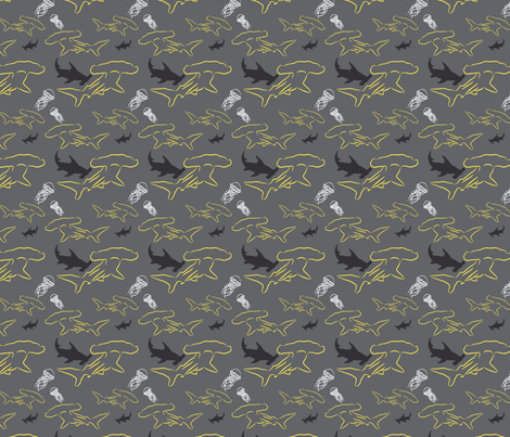 Hammerhead-yellowsaltandpepper fabric by craftinomicon on Spoonflower - custom fabric