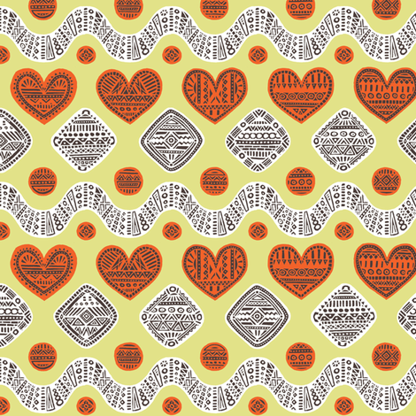hearted fabric by simut on Spoonflower - custom fabric