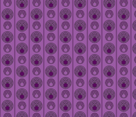 CirclesPurpleStripe fabric by phantomssiren on Spoonflower - custom fabric