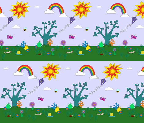 Happy Garden Day fabric by glanoramay on Spoonflower - custom fabric