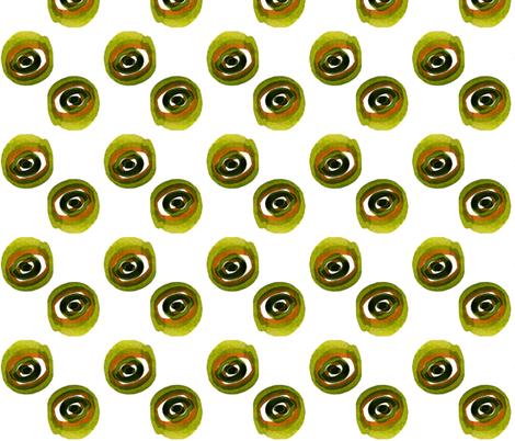 C'EST LA VIV_ evil green eye ( katrina) fabric by cest_la_viv on Spoonflower - custom fabric