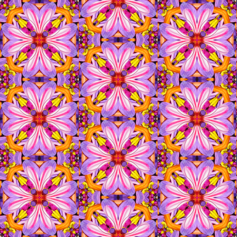 Peter's Painted Petals - Flower Power 10 fabric by dovetail_designs on Spoonflower - custom fabric