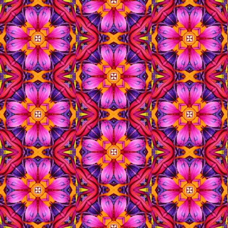 Peter's Painted Petals - Flower Power 11 fabric by dovetail_designs on Spoonflower - custom fabric