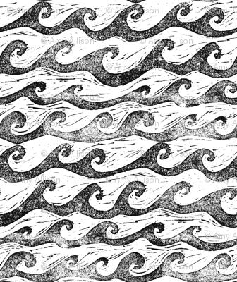 wave in black & white