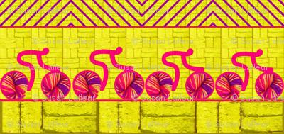 Knitcycle Hits the Bricks-yellow