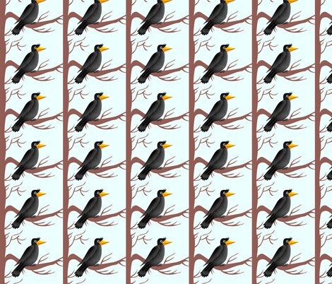 THE CROW fabric by bluevelvet on Spoonflower - custom fabric
