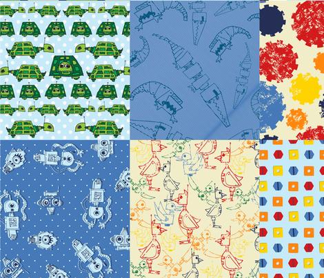 LaraGeorgine_Robot_Cheater_Quilt fabric by larageorgine on Spoonflower - custom fabric
