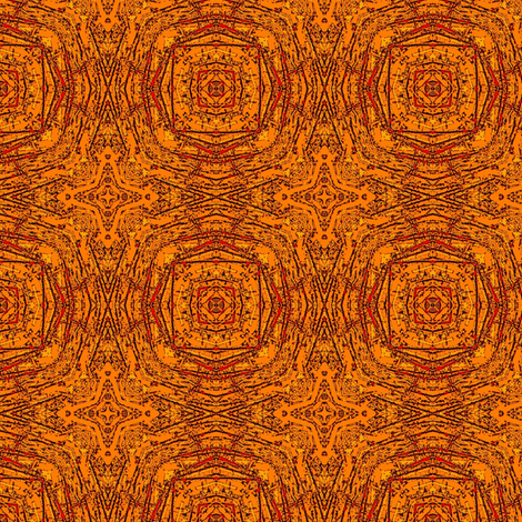 Fossilized Tangerine  fabric by wren_leyland on Spoonflower - custom fabric