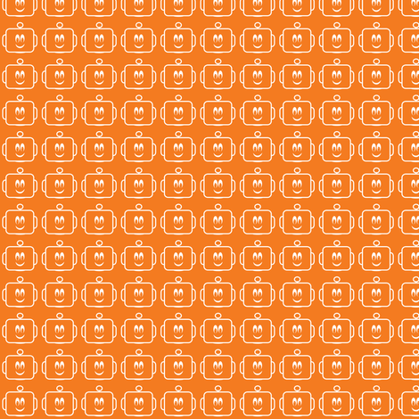 Small Mr Mikeys Smile Orange fabric by shelleymade on Spoonflower - custom fabric
