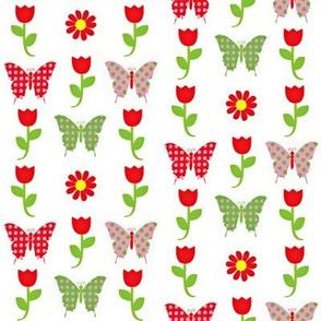 fly into the tulip garden