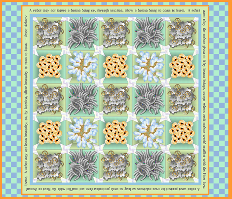 Spare Parts - A Robot Cheater Quilt fabric by glimmericks on Spoonflower - custom fabric