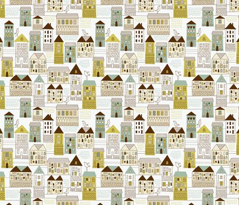 urban pattern fabric by inbirdhouse on Spoonflower - custom fabric