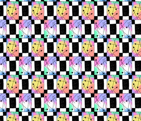 Retro 90s: Blocks and Arrows fabric by siya on Spoonflower - custom fabric