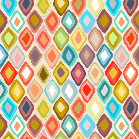 Almas diamond ikat light fabric by scrummy on Spoonflower - custom fabric