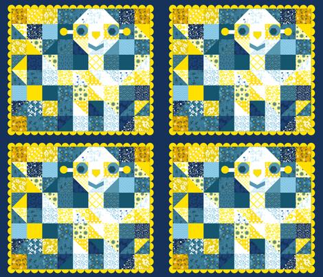Sunshine Robot fabric by lilli_marina on Spoonflower - custom fabric