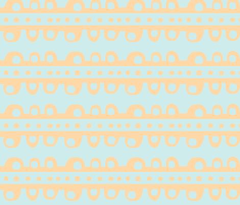 Bumpy Stripe (pale tangerine & light sky blue) fabric by pattyryboltdesigns on Spoonflower - custom fabric