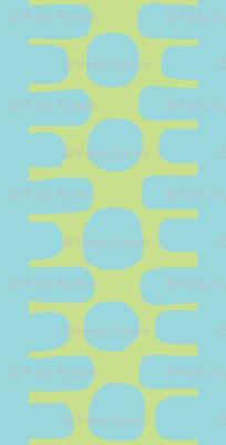 Bumpy Dotty Stripe 2 (deep lime & aqua)
