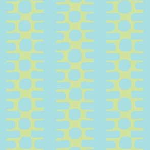 Bumpy Dotty Stripe 2 (deep lime & aqua)