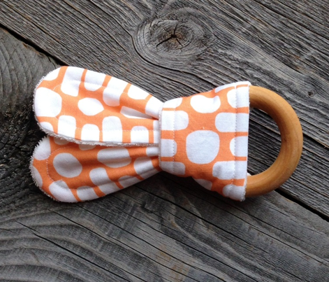 Bumpy Dotty Stripe (tangerine & white)