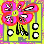 fuschia orange lime floral