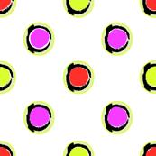 fushia orange lime dots
