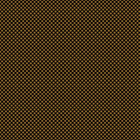 Small Scale Gears or Flowers -- brass on black version ©21011 by Jane Walker fabric by artbyjanewalker on Spoonflower - custom fabric