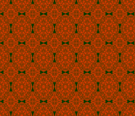 Tangerine Bow Ties fabric by wren_leyland on Spoonflower - custom fabric