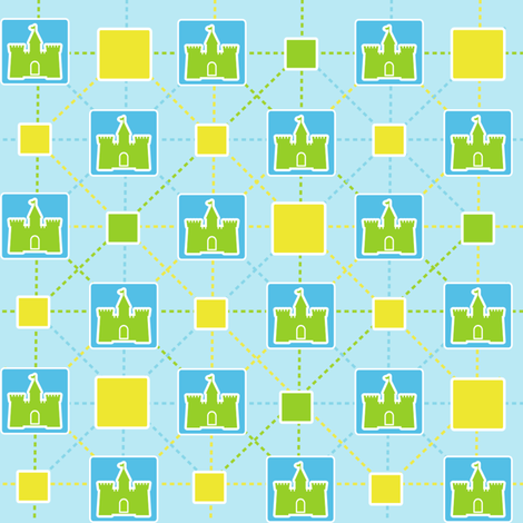 Castle Greens fabric by meticulous_sarah on Spoonflower - custom fabric