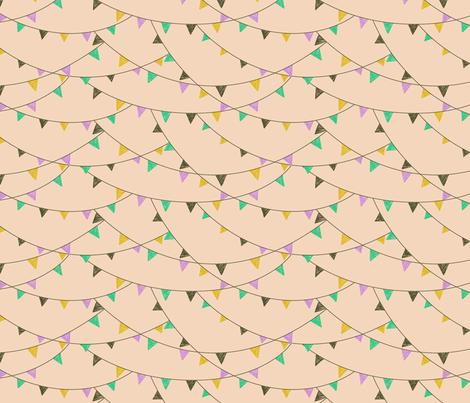 flags - peach fabric by cheyanne_sammons on Spoonflower - custom fabric