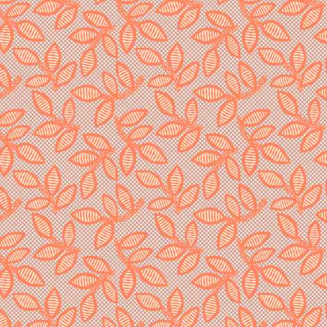 lace - coral fabric by cheyanne_sammons on Spoonflower - custom fabric