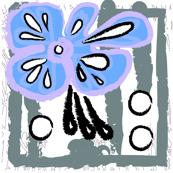 blue lilac flower