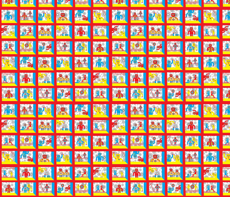 Robot_Cheater fabric by joofalltrades on Spoonflower - custom fabric